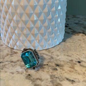 Semi precious stone and sterling silver ring